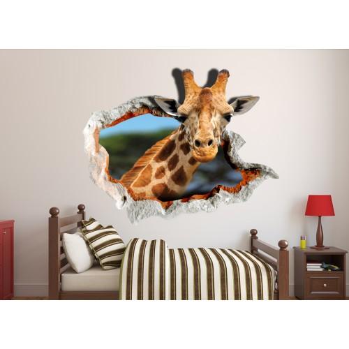 Стикери за стена на детска стая 3D Жираф Модел 20547