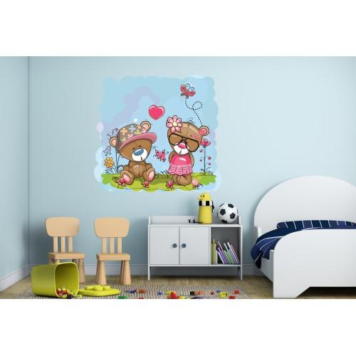 Стикери за детска стая Мечета и мравките Модел 20558