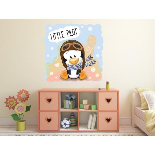 Стикери за детска стая Малкият пилот Модел 20561
