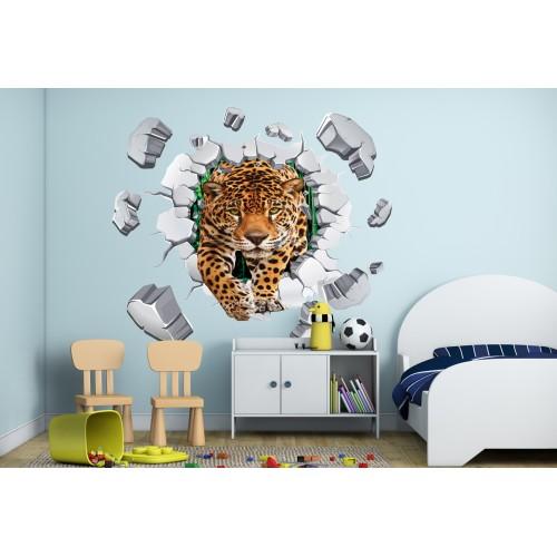 Стикери за стена на детска стая 3D Леопард  Модел 20567
