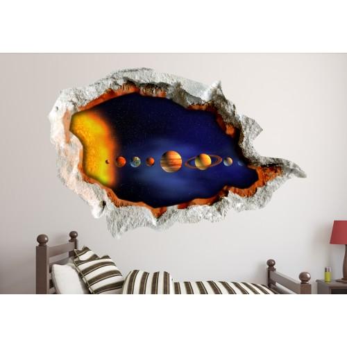 Стикери за стена на детска стая 3D планети Модел 20593
