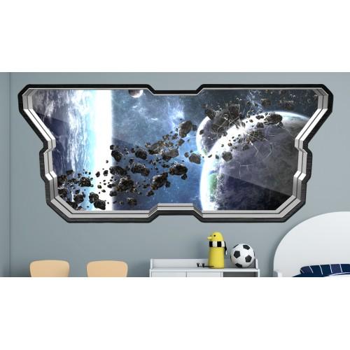 Стикери за стена на детска стая  Модел 20595 прозорец планети