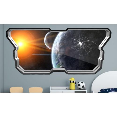 Стикери за стена на детска стая  Модел 20597 прозорец планети