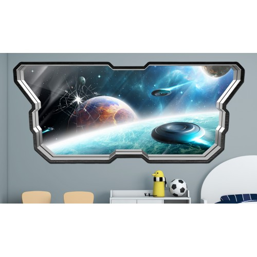Стикери за стена на детска стая  Модел 20601 прозорец планети