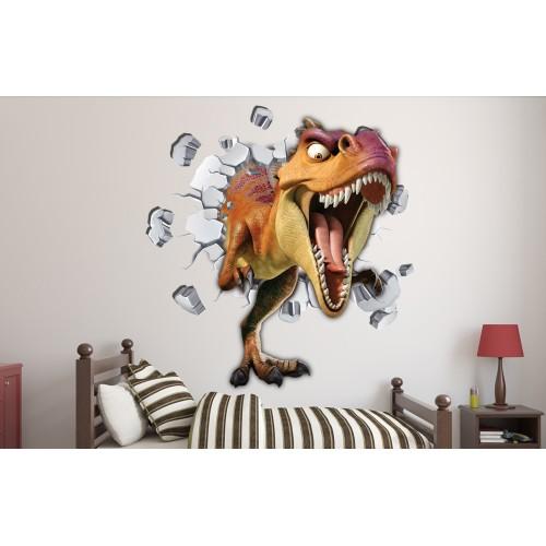 Стикери за стена на детска стая 3D Динозавър  Модел 20609