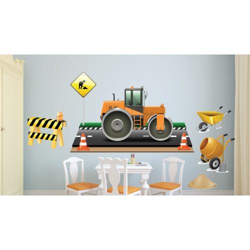 Стикери за стена на детска стая Строителна Техника  Модел 20613