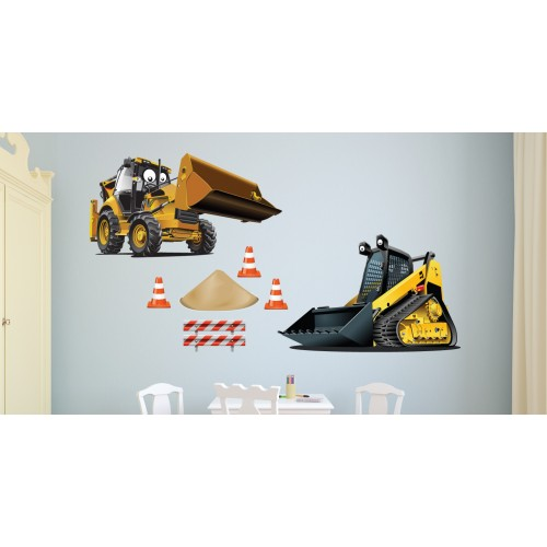 Стикери за стена на детска стая Строителна Техника  Модел 20615