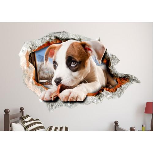 Стикери за стена на детска стая 3D Кученце Модел 20638