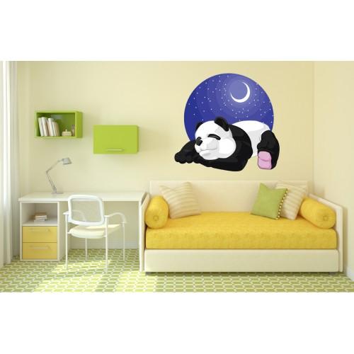 Стикери за стена на детска стая Мечо Панда и Месечко Модел 20660