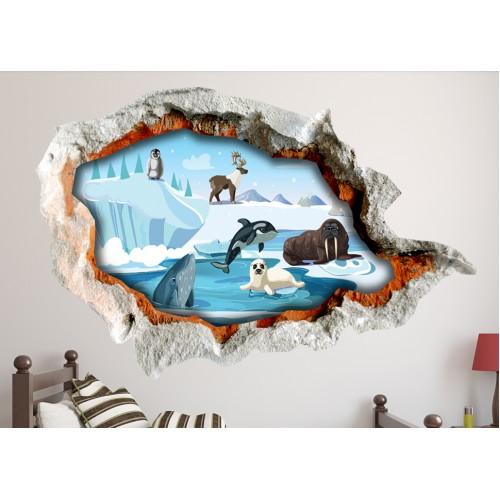 Стикери за детска стая 3D Арктика Модел 20666