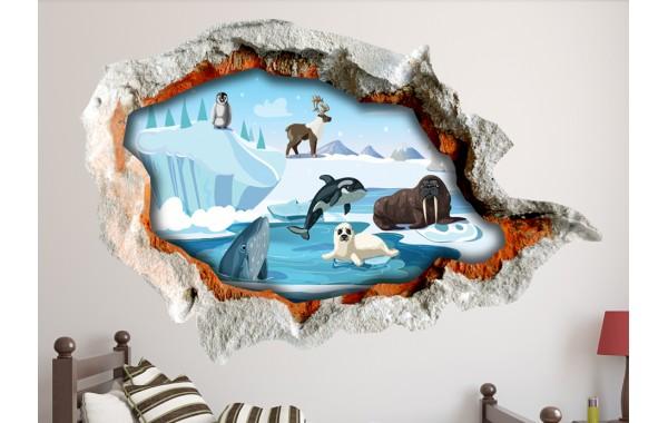 Стикери за стена на детска стая 3D Арктика Модел 20666