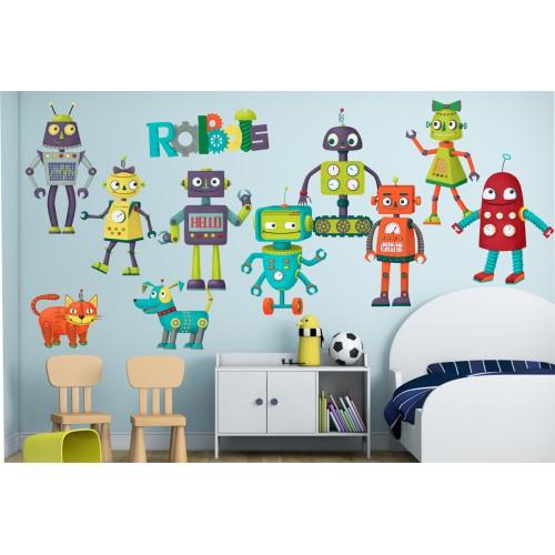 Стикери за детска стая Роботи  Модел 21000