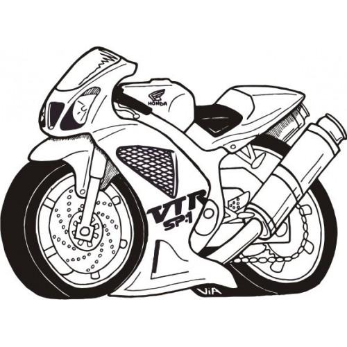 Стикер HONDA vtr caricature модел 20749