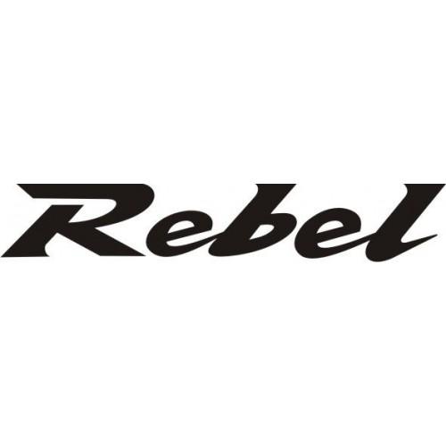 20734 Стикер HONDA rebel Black