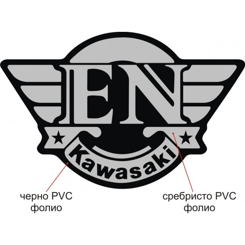 Стикер Kawasaki EN модел 20903