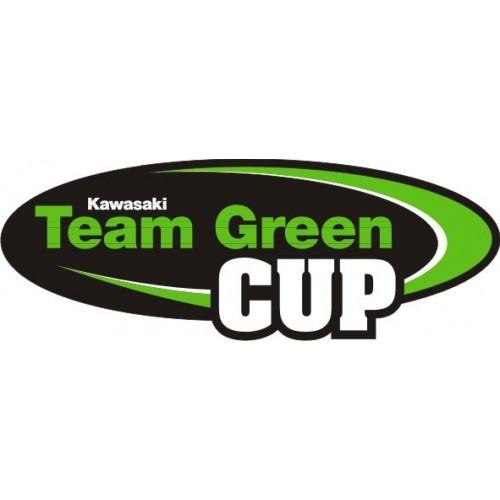 Стикер Kawasaki team green cup модел 21606