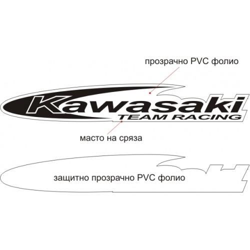 Стикер Kawasaki team racing модел 21603