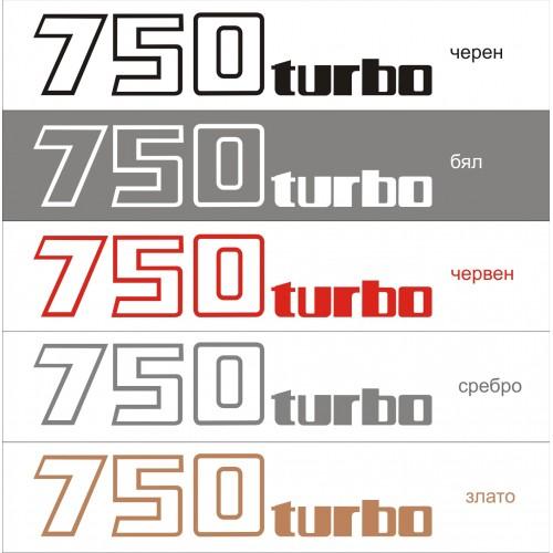 Стикер KAWASAKI GPZ 750 turbo модел 21625