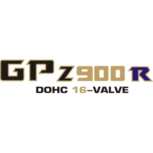 Стикер KAWASAKI GPz 900 R DOHC 16-VALVE 1982 модел 21627
