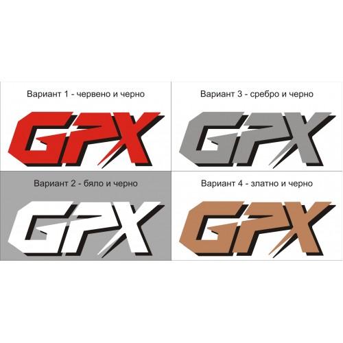 Стикер KAWASAKI GPX два цвята модел 21636