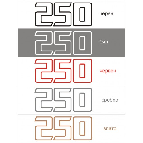 Стикер KAWASAKI Kl 250  модел 21640