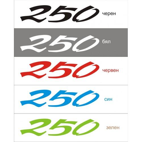 Стикер KAWASAKI KLR 250  модел 21646