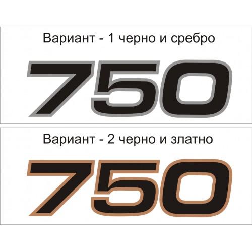 Стикер KAWASAKI ZR750 Zephyr  модел 21656