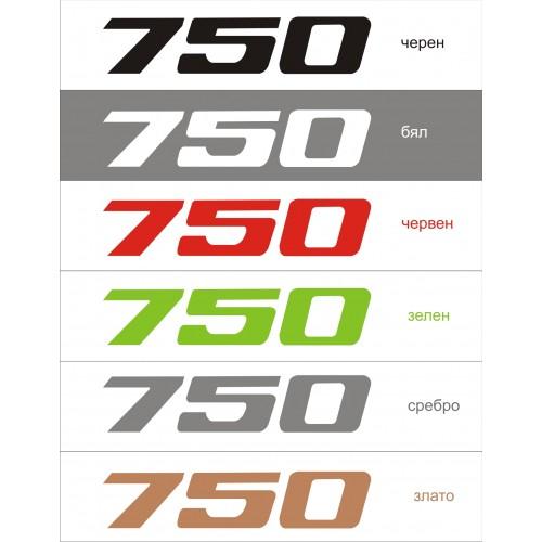 Стикер KAWASAKI ZXR-750  модел 21685