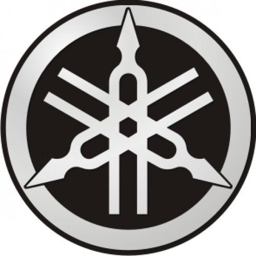 Стикер YAMAHA емблема silver black модел  21314