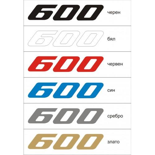 Стикер YAMAHA 600 FZR  1992 модел 21351