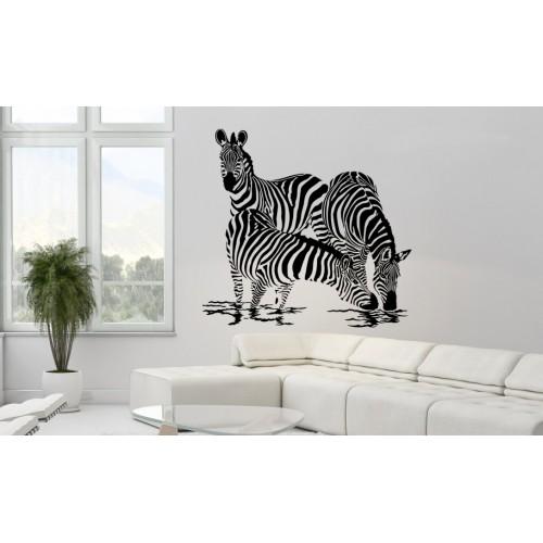 Стикер  за стена модел 31002 зебри на водопой