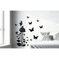 Стикер Рози с пеперуди модел 31008