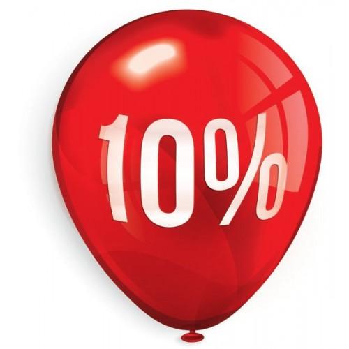 Стикер за отстъпка, промоция - 10% в Балон