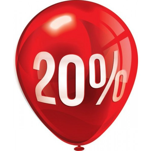 Стикер за отстъпка, промоция - 20% в Балон