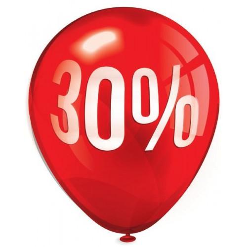 Стикер за отстъпка, промоция - 30% в Балон