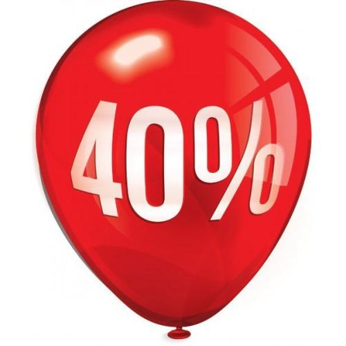 Стикер за отстъпка, промоция - 40% в Балон