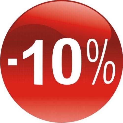 Стикер за отстъпка, промоция - 10% в Топка