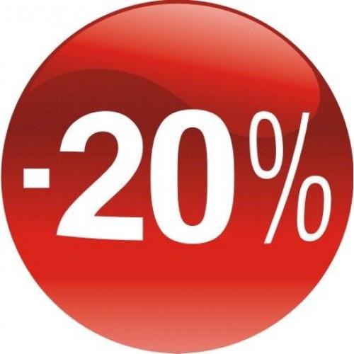 Стикер за отстъпка, промоция - 20% в Топка