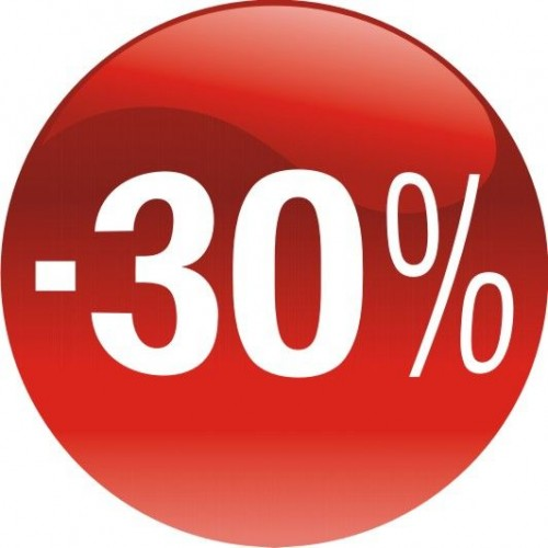 Стикер за отстъпка, промоция - 30% в Топка