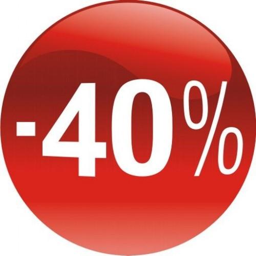 Стикер за отстъпка, промоция - 40% в Топка