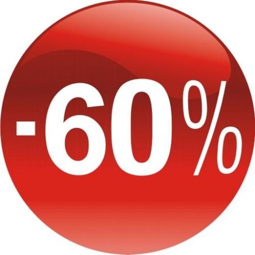 Стикер за отстъпка, промоция - 60% в Топка