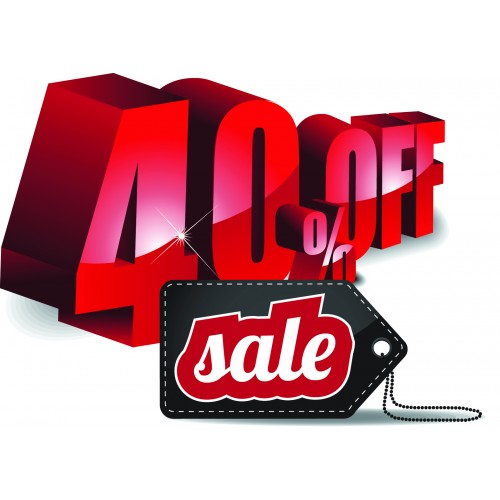 Стикер SALE 40% off  Модел 25067
