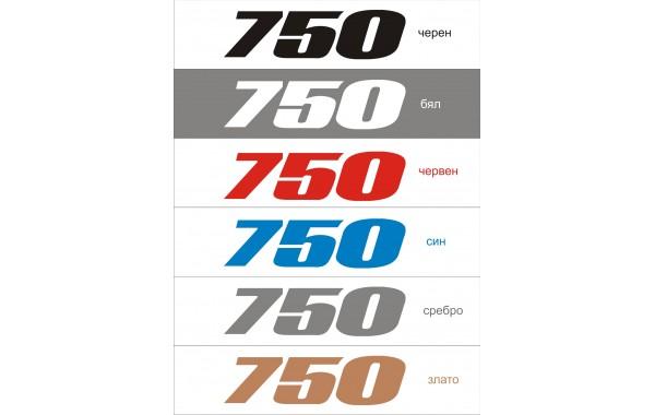 Стикер SUZUKI GSX-R 750 модел 21024