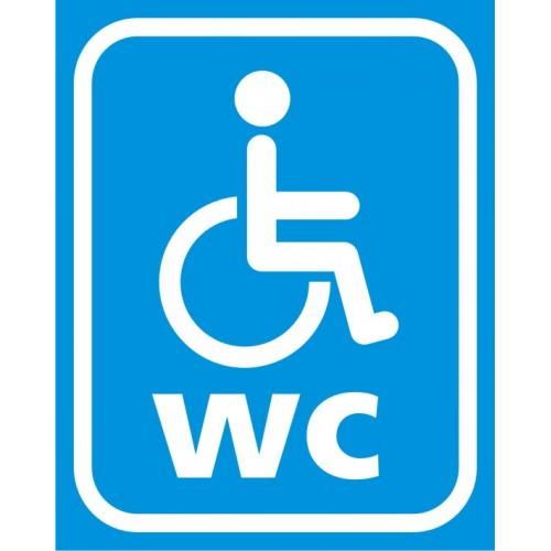 Табела или стикер WC инвалид в синьо модел 24014