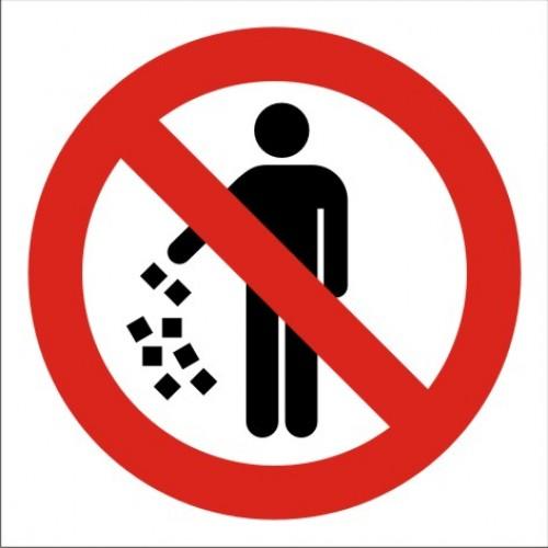Табела или стикер Забранено изхвърлянето на отпадъци модел 24020