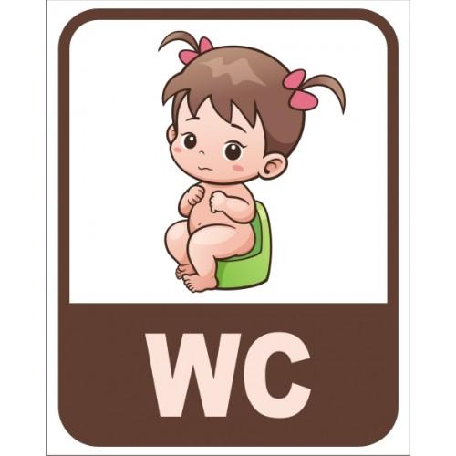 Табела или стикер WC модел 24161