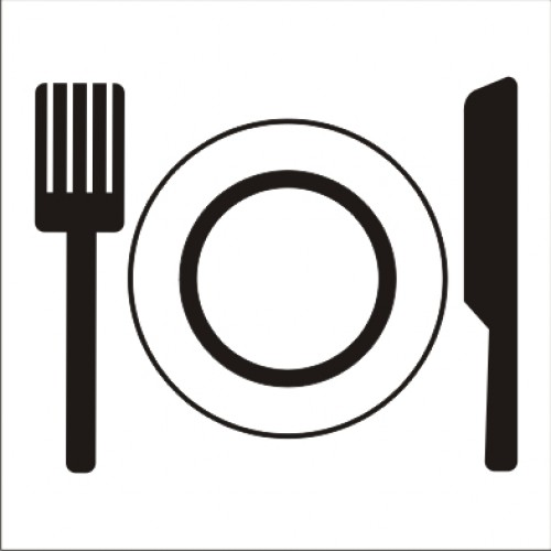 Табела или стикер пиктограма Ресторант заведение за хранене модел 24203