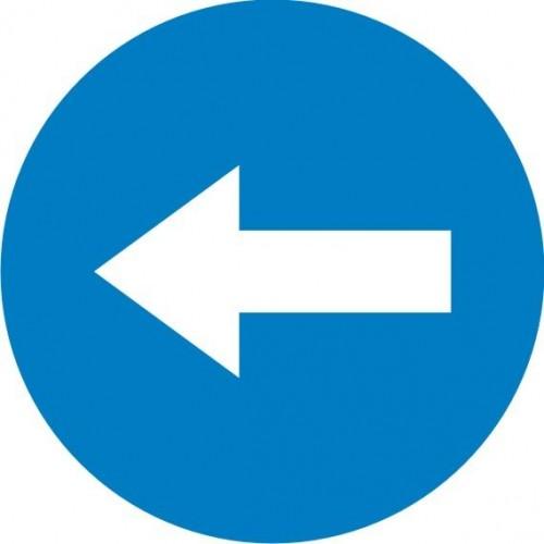 Табела или стикер Задължително на ляво или направо или на дясно модел 24072