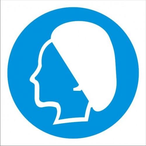 Табела или стикер Задължително използването на предпазна шапка модел 24062