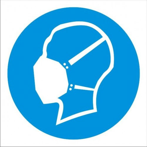 Табела или стикер Задължително използването на Противопрахова маска модел 24071